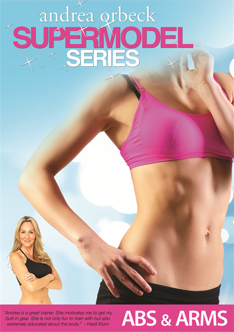 Supermodel Abs & Arms DVD by celebrity trainer Andrea Orbeck!  (DVD Only, No Download)